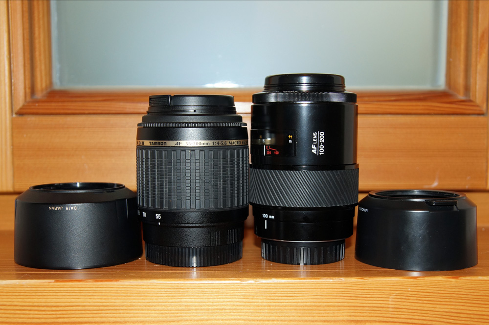 Tamron links - Minolta rechts